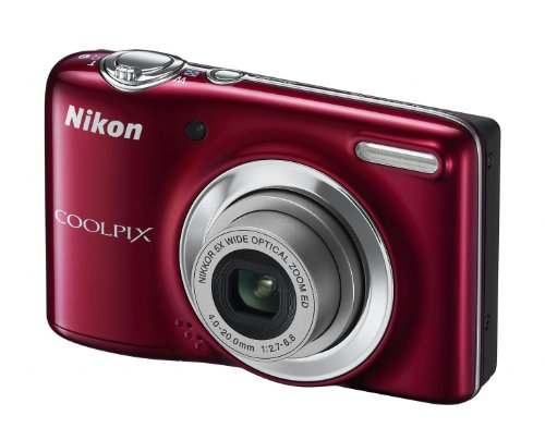 Nikon COOLPIX L25 Compact Digital Camera - Red (10.1MP, 5x Optical Zoom) 3 inch LCD