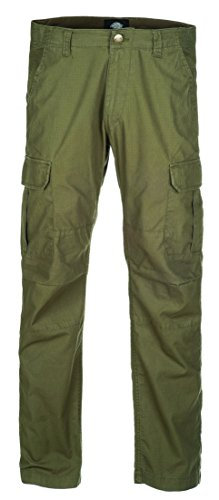 Dickies Men's Oklahoma Cargo Trousers, Green (Dark Olive), Size W32/L34