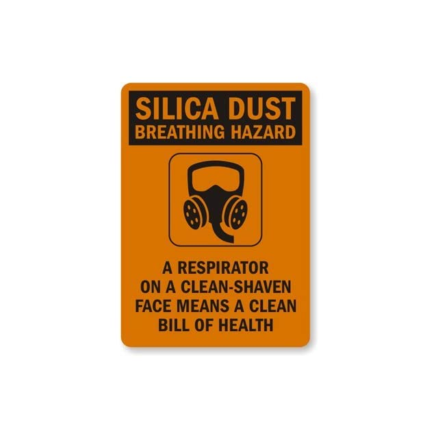A Respirator On a Clean Shaven Face, Engineer Grade Reflective Aluminum Sign, 80 mil, 14 x 10