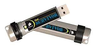 Corsair 8GB Flash Survivor USB 2.0 Flash Drive CMFUSBSRVR-8GB