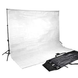 Hintergrundsystem mit Hintergrundstoff in weiss Fotostudio 600x300cm höhenverstellbar mit Tragetasche