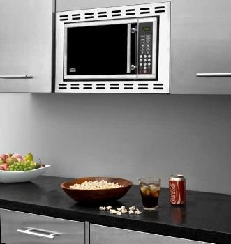Summitco OTR24 Microwave Oven, built-in, .9 cu. ft, s/s, touchpad