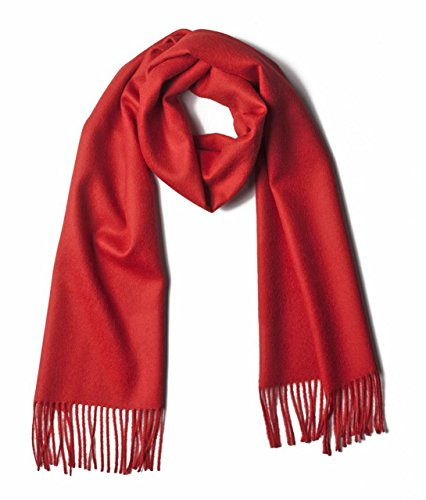 Luxury-100-Pure-Baby-Alpaca-Scarf-for-Men-and-Women-A-Great-Gift-Idea-in-Many-Colors-Red