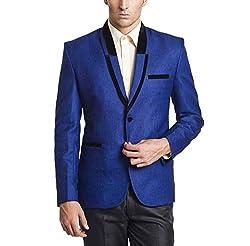 Belario Men's Regular Fit Suit(RB10138_Blue_38)