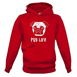 Pug Life - Childrens / Kids Hoodie - 7 Colours - Ages 1-13 Years