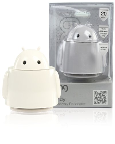 Konig Andy 20W Unearthly Resonator Alien Robot Computer/High Power Active MP3 Speaker - White