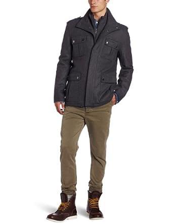 Michael Kors Men's Burlingame Field Coat, New Charcoal, XX-Large