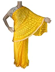 Beautiful RUDA Designer Phulkari Embroidered Saree-JS1114