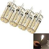 Long Dream 4PCS G4 3W 57*SMD3014 150LM 3000K Warm White Light Corn Bulbs (DC12V),led light bulbs led tube lights halogen bulbs