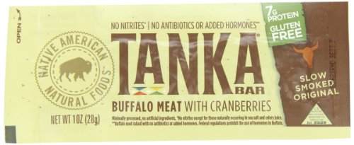 Tanka  Bar,natural Buffalo Cranberry Bar, 1-Ounce Bar (Pack of 12)
