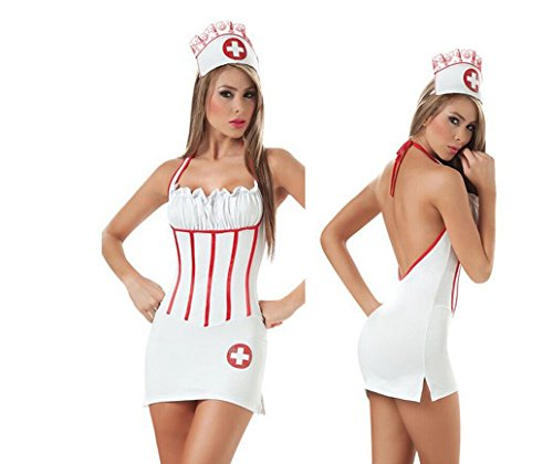 Luk Oil Halloween Cosplay Costumes Sexy Nurse Backless Suit Uniforms