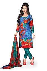 Variation Women's Blue Crepe Unstiched Dress Material (VD11719)