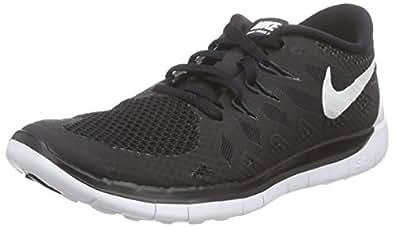Nike Kids Free 5 (PS) Black/White/Anthracite Running Shoe 1 Kids US