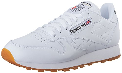 Reebok Men's Classic Leather Fashion Sneaker, US-White/Gum, 11 M US (Reebok Leather Classic compare prices)