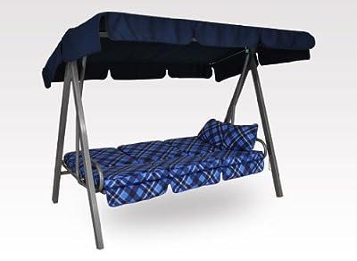 Angerer Select Hollywoodschaukel (3-Sitzer) Design Oxford blau von Angerer - Gartenmöbel von Du und Dein Garten