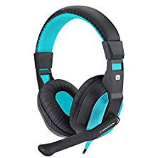 buy Canleen Ct-770 Over-Ear Wired Controls Headset With Microphone For Computer (Blue)
