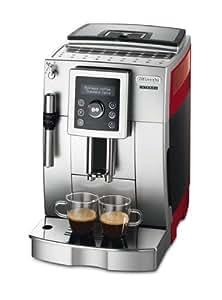 DeLonghi ECAM 23420 SR Kaffee-Vollautomat Cappuccino (1.8 l, Dampfdüse) silber-rot