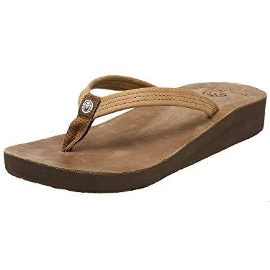 Ocean Minded by Crocs Women's Del Mar Sandal,Distressed Brown,5 M US
