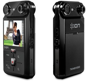 New Ion Twin Video Dual Lens Hand-Held Digital Camcorder Tripod Mountable For Steady Recording