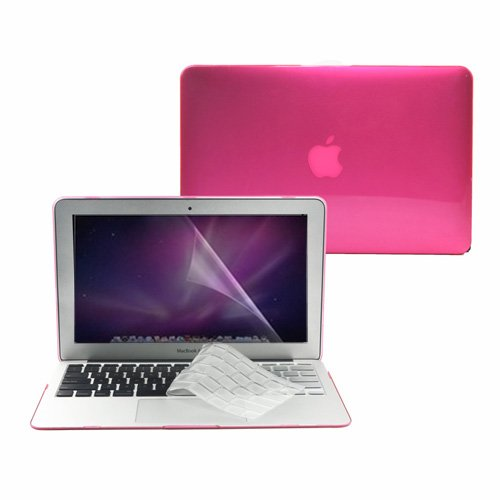 =>  TopCase 3 in 1 Crystal See Thru Hard Case Cover And Transparent TPU Keyboard Cover with LCD Screen Protector for Macbook Air 11
