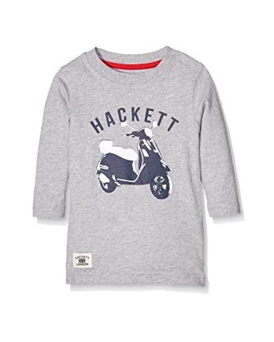 Hackett London Camiseta Manga Larga Scooter Tee Ls T Gris