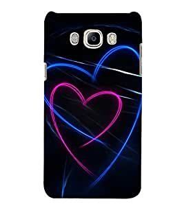 Hearts 3D Hard Polycarbonate Designer Back Case Cover for Samsung Galaxy J5 2016 :: Samsung Galaxy J5 2016 J510F :: Samsung Galaxy J5 2016 J510FN J510G J510Y J510M :: Samsung Galaxy J5 Duos 2016