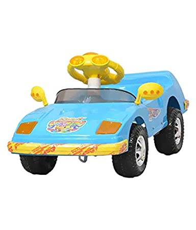 ehomekart blue sports push and pedal car for kids