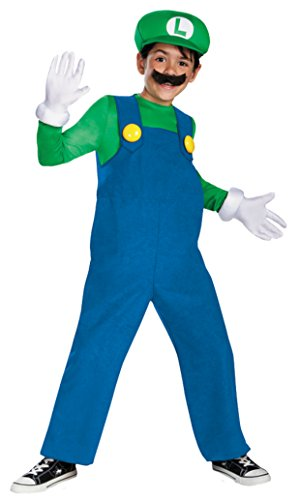 Boys Mario Luigi Deluxe Kids Child Fancy Dress Party Halloween Costume