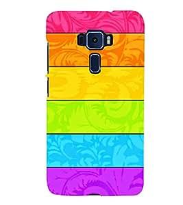 MULTICOLOURED HORIZONTAL LINES PATTERN 3D Hard Polycarbonate Designer Back Case Cover for Asus Zenfone 3 Deluxe ZS570KL::Asus Zenfone 3 Deluxe (5.7 INCHES)