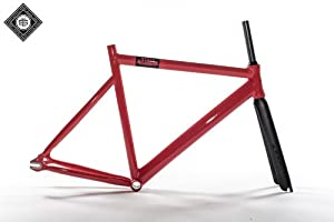 State Bicycle Black Label 6061 Aluminum Frame and Carbon Fork Set, 59cm/X-Large, Roma Red