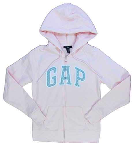 GAP Womens Fleece Arch Logo Full Zip Hoodie gap boys fleece arch logo pullover hoodie
