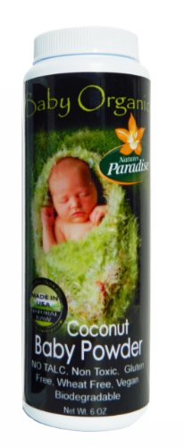 Baby Powder Organic Unscented By Nature's Paradise 6 Oz