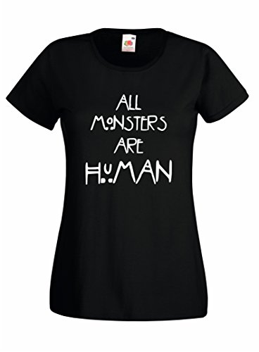 Settantallora - T-shirt Maglietta donna J787 All Monsters are Human Taglia M