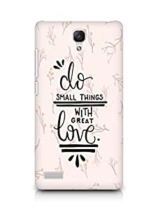 AMEZ do great things with love Back Cover For Xiaomi Redmi Note 4G