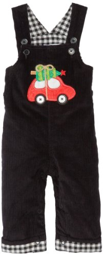 Mud Pie Baby-Boys Newborn Holiday Overall, Multi, 9-12 Months front-1053067