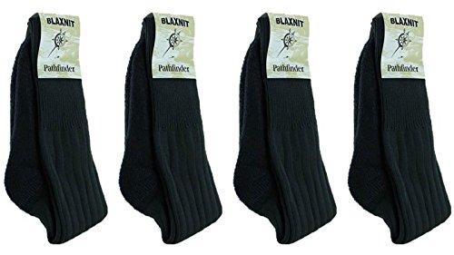 new-mens-bridgedale-blaxnit-pathfinder-warm-double-knit-socks-4-pair-6-10-black