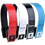 Patuoxun Black Wireless Bluetooth Stereo Headset Headphone For iphone HTC Samsung Galaxy Cell phone PC Laptop