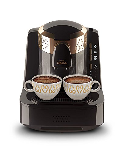 OKKA Turkish/Greek Coffee Machine (USA 120v) Black/Copper UL