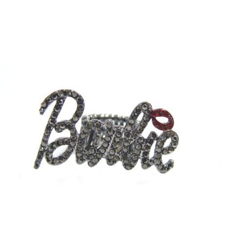 Nicki Minaj Barbie RING Black with Red Lip