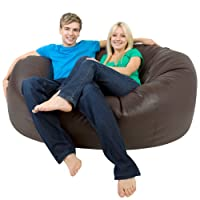XXXL Bean Bag MONSTER Double - Faux Leather BROWN Giant Bean Bags