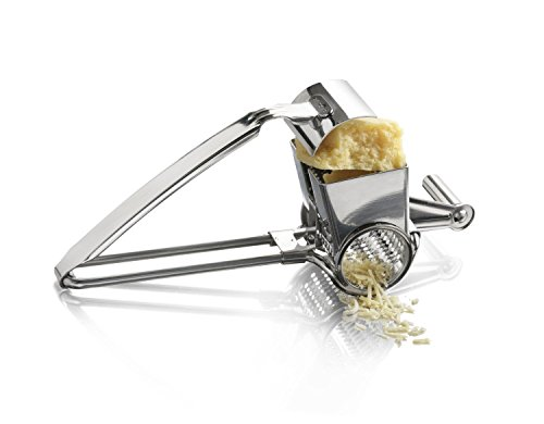 IBEET 18/8 Stainless Steel Hand-Crank Rotary Cheese Grater Shredder Slicer Machine - Professional Kitchen Aid