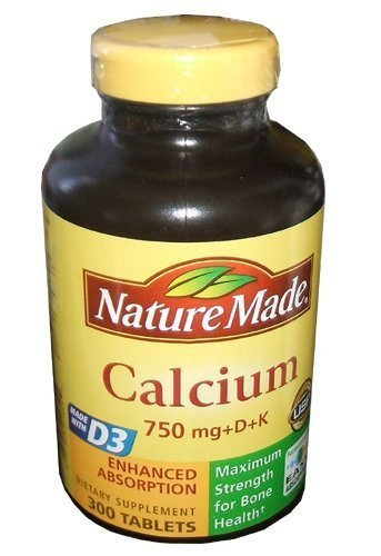 Nature Made Calcium 750 mg + D + K 300 Tablets (Nature Made 300 compare prices)
