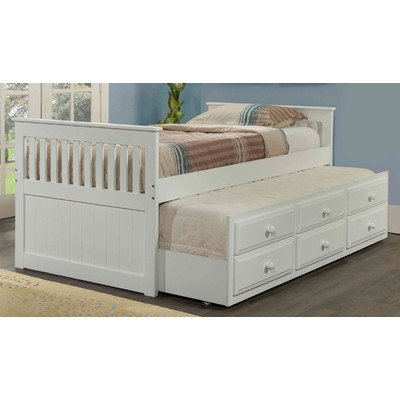 Twin trundle bed in white best deals toys Best deal on twin mattress