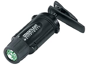 Streamlight 61102 Clipmate Flashlight, Three Green LEDs, Black