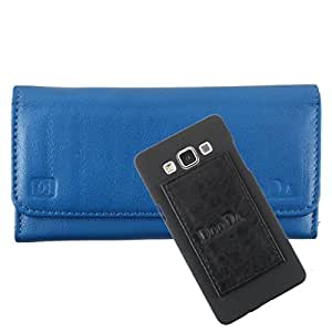 DooDa Genuine Leather Wallet Flip Case Cover With Card & ID Slots For Samsung Galaxy Mega 5.8