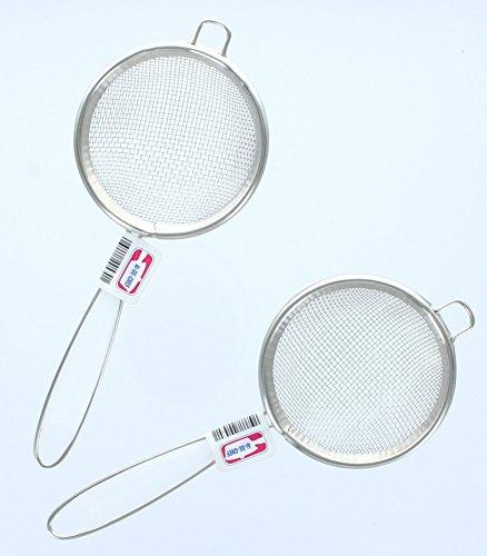 "Lot of 2 Mesh 2.75"" Mini Metal Strainers Kitchen Cookware Utensils Tools"