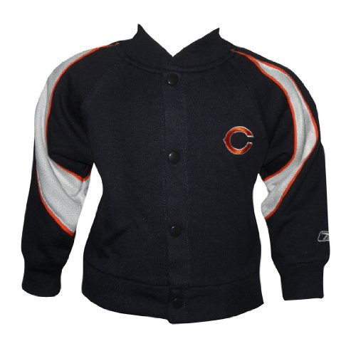 NFL Baby Chicago Bears Button Down Sweatshirt Jacket 6-9M Black & White at Amazon.com