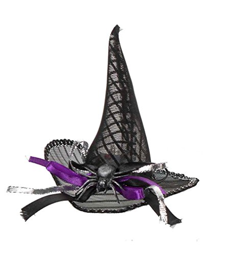Purple & Black Light-Up Mini Witch Hat Costume by Ganz