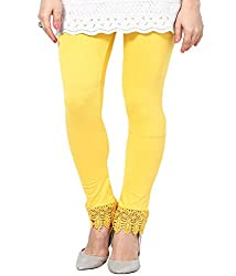 Castle Yellow Lace Leggings