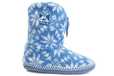 W1877C Bedroom Athletics Jessica Blue Slipper Boots Slippers Booties Size Uk L 7-8